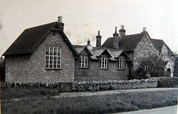 Biddenham School in 1956 from the Biddenham Women's Institute scrapbook [X535/6]